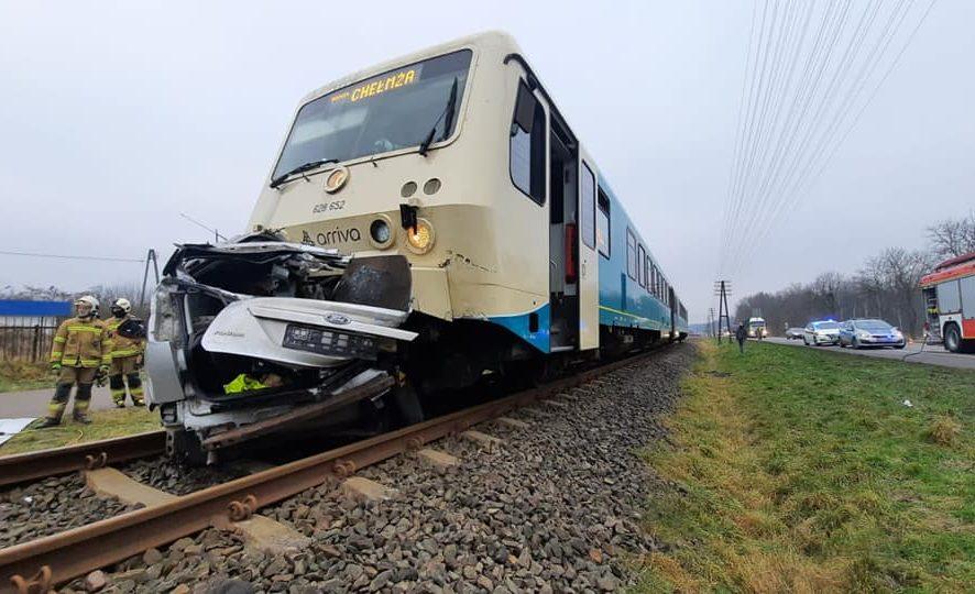 Kujawsko-Pomorskie. Kolejne zderzenie samochodu i pociągu