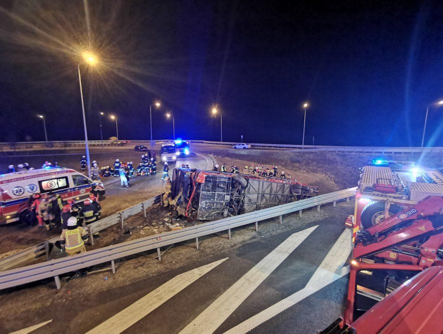 Podkarpacie. Tragiczny wypadek autobusu na A4