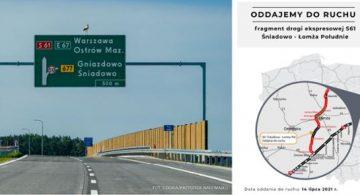 GDDKiA: kolejny odcinek S61 Via Baltica jeszcze dziś oddany do użytku